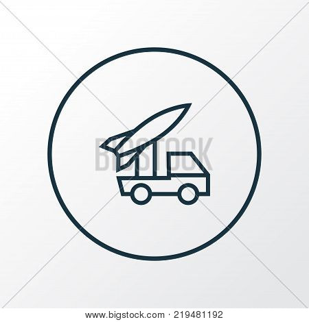 Artillery icon line symbol. Premium quality isolated rocket  element in trendy style.