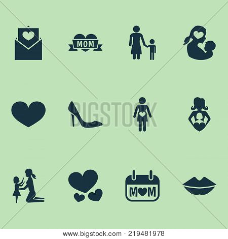 Mothers Day Icon Vector Photo Free Trial Bigstock