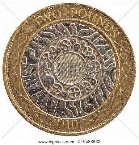1 Penny Coin, United Kingdom Isolated Over White