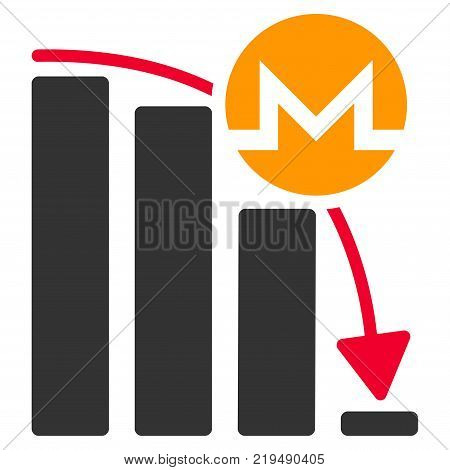 Monero Epic Fail Chart flat vector icon. An isolated illustration on a white background.