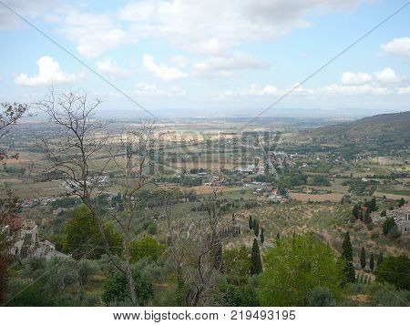 View Of The City Of Cortona