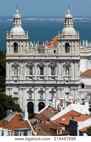 Monastery Of St. Vincent Outside The Walls In Lisbon, Portugal.
