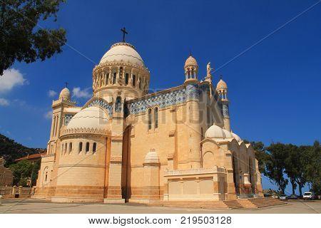 Basilica Notre Dame d'Afrique in Algiers, Algeria
