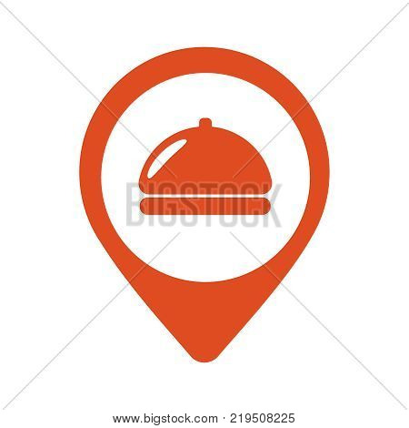 Fod icon restaurant location pin icon vector illustration flat design eps10