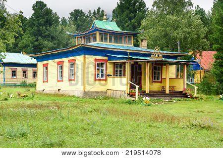 Buddhist Datsan Bodhidharma In Arshan. Russia