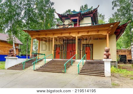 Buddhist Datsan Dechen Ravzhalin In Arshan. Russia