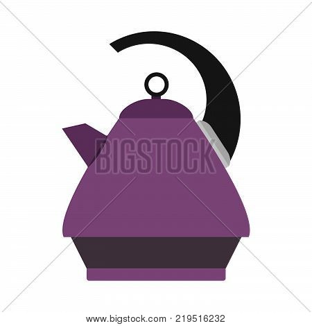 Kettle water icon tea vector hot teapot kitchen electric drink. Illustration pot design isolated cooking