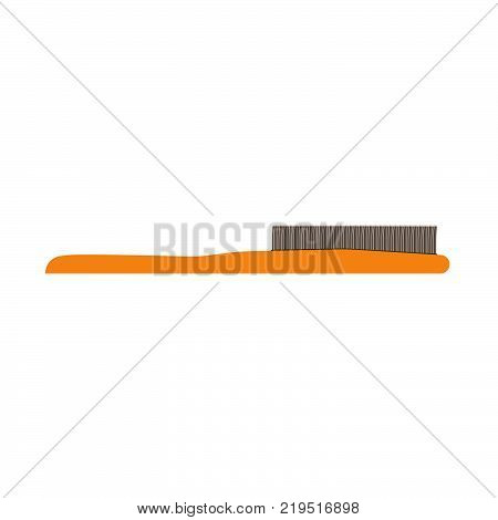 Hairbrush hair vector comb brush icon style illustration. Isolated fashion care hairdresser beauty equipment salon