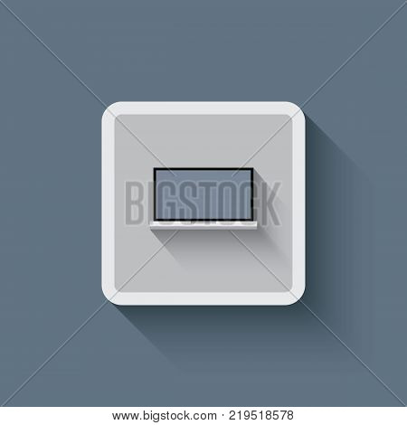 Flat lap top vector icon for graphic design, logo, web site, social media, mobile app, illustration