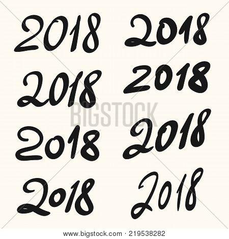 2018 Happy New Year Vector & Photo (Free Trial) | Bigstock