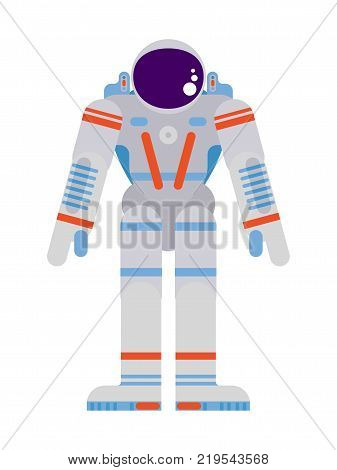 pioneering astronaut in a spacesuit on a white background vector work