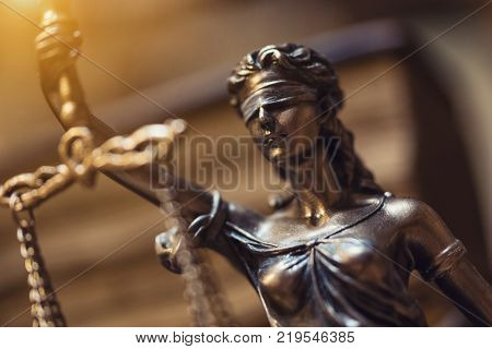 Close-up from The statue of Justice - lady justice or Iustitia the Roman goddess of Justice. ideal for websites and magazines layouts