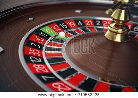 3D Rendering Casino Roulette concept. Gambling table in luxury casino. Casino Roulette Game.