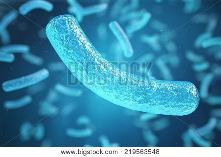 3d Illustration virus, bacteria, cell infected organism, virus abstract background. Hepatitis viruses in infected organism
