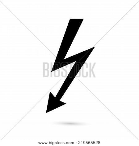 High-voltage hazard icon. Black icon on white background