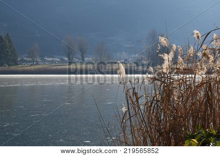 An entire lake completely frozen - Lake Endine - Bergamo - Lombardy - Italy 0012