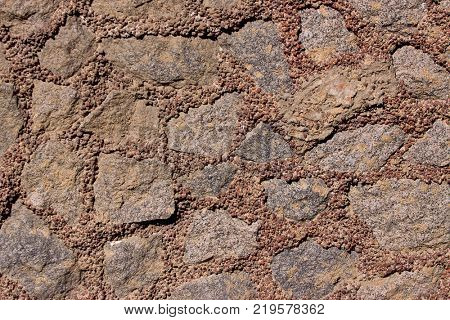 brown background of natural stone