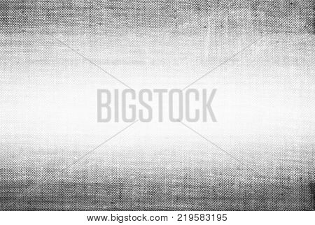 Grey obsolete canvas linen frame vignette up and down edges witzh gradient grunge blank board plain card background