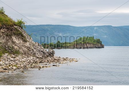 The Baikal lake coat, Shaman Rock . Shamanka - famous place between Kultuk and Sludanka. Fear Stone.