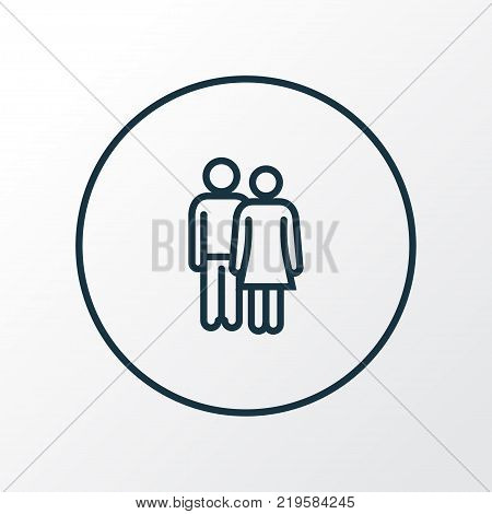 Lover icon line symbol. Premium quality isolated couple element in trendy style.
