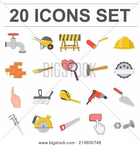 Building and architecture cartoon icons in set collection for design. Construction and Institution vector symbol stock  illustration.