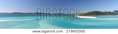 Whitehaven Beach and Hill Inlet Panoramic view