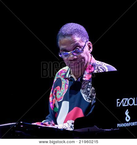 Herbie Hancock On Stage At Umbria Jazz Festival In Perugia, Italy