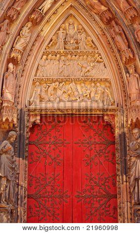 Portal Of Cathédrale Notre-dame De Strasbourg, France