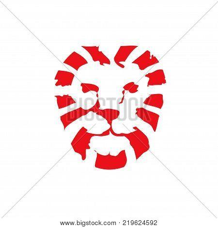 Lion head logo vector, lion king head sign concept, Lions head logo, lion face graphic illustration, Design element