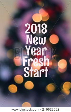 New Year Greeting - New Year Fresh Start