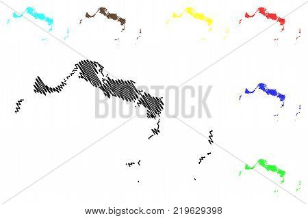 Turks and Caicos Islands map vector illustration , scribble sketch Turks and Caicos poster
