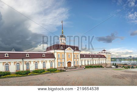 The main body (building) of the Artillery court in the Kazan Kremlin. Tatarstan, Russia