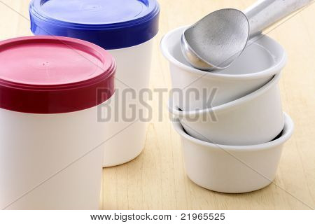 Ice Cream Buckets And Antifreeze Scoop