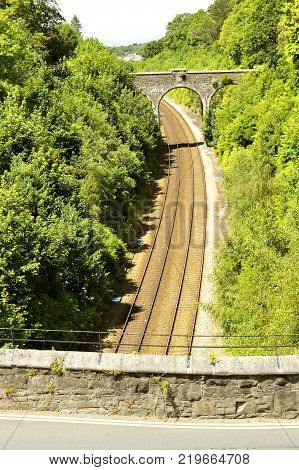 The Conny railway tracks in North Wales