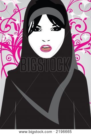 Sweetheart With Black Hijab