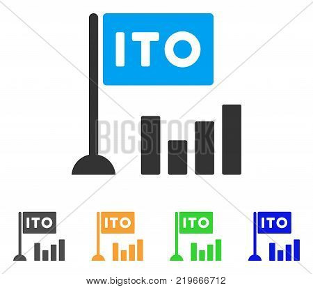 Ito Bar Chart icon. Vector illustration style is a flat iconic ito bar chart symbol with gray, green, blue, yellow color versions. Designed for web and software interfaces.