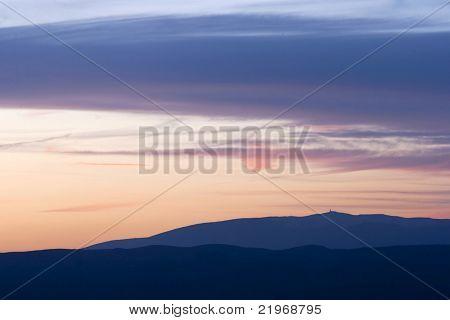 Sunset at Mont Ventoux