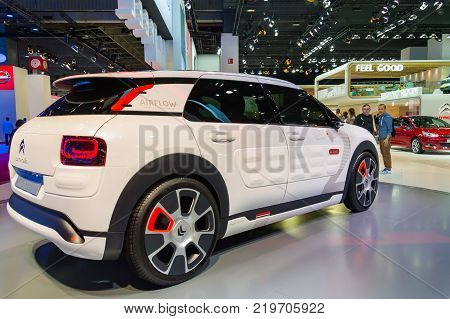 Citroen C4 Cactus Airflow at Paris Auto Motor Show. Paris, France - October 5, 2014.