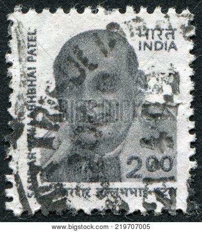 INDIA - CIRCA 2000: A stamp printed in India shows the Sardar Vallabhbhai Patel circa 2000