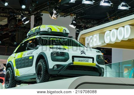 Citroen C4 Cactus Adventure at Paris Auto Motor Show. Paris, France - October 5, 2014.