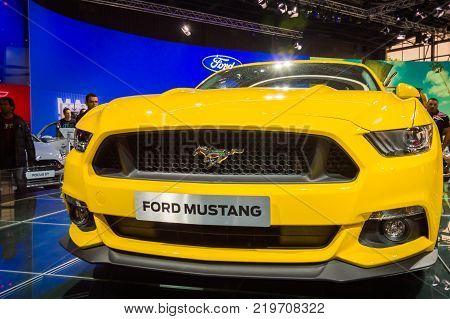 Ford Mustang at Paris Auto Motor Show. Paris, France - October 5, 2014