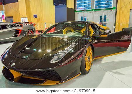 Sport car at Paris Auto Motor Show. Paris, France - October 5, 2014.