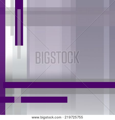 Square template in purple violet and gray. Background with gradient and vertical and horizontal strips. Modern technology design. Geometric abstract layout with text place for brochures, books, magazines, posters, booklets, leaflets, annual reports, portf