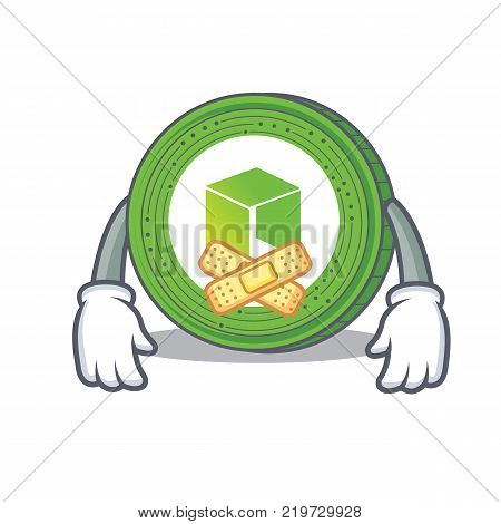 Silent NEO coin character cartoon vector illustration