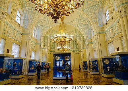 Interior Of Hermitage Palace In St Petersburg