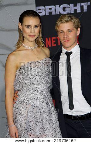 Lucy Fry and Daniel Webber attend the Netflix