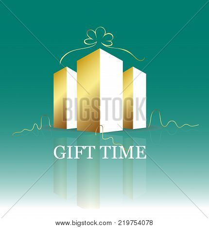 Gift Time Building Logo Vector Design. Construction business and real estate concept.