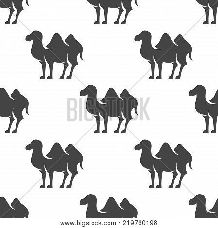 Bactrian camel seamless pattern. Vector illustration for backgrounds