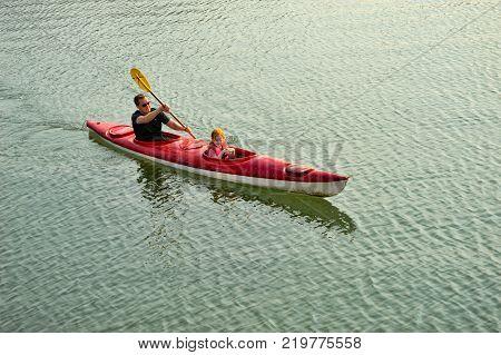 HALONG BAY VIETNAM - OCTOBER 16 2015: Unknown Tourists kayaking in Halong Bay.