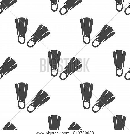 Flippers seamless pattern. Vector illustration for backgrounds